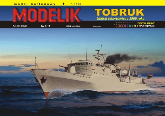 Modelik 2/17 - Libijski eskortowiec TOBRUK
