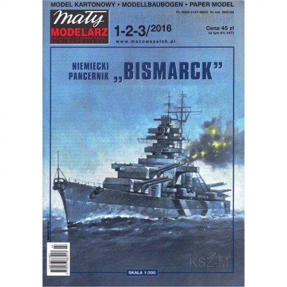 Pancernik BISMARCK - Mały Modelarz 1-2-3/2016