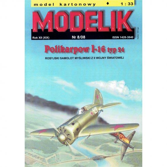 Polikarpow I-16 typ 24 - Modelik 8/08