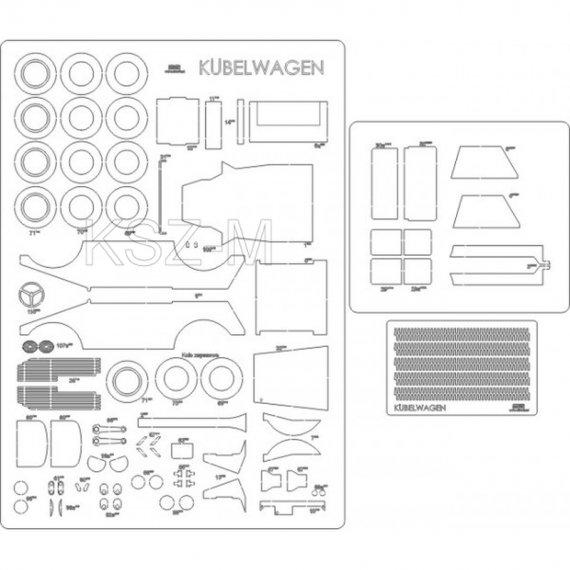 Laser do Answer 2/17 Samochód Kubelwagen