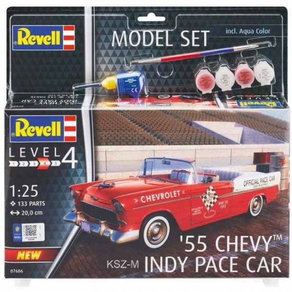 Chevy Indy Pace Car '55 + akcesoria - REVELL 07686