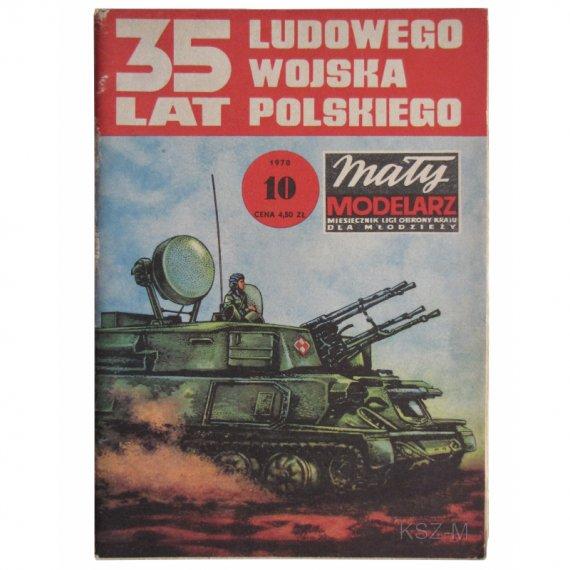 Samobieżne działo plot ZSU-23x4 - Mały Modelarz 10/78