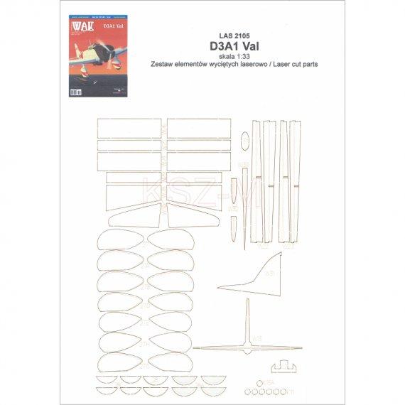 Szkielet do Aichi D3A1 Val - WAK 5/21