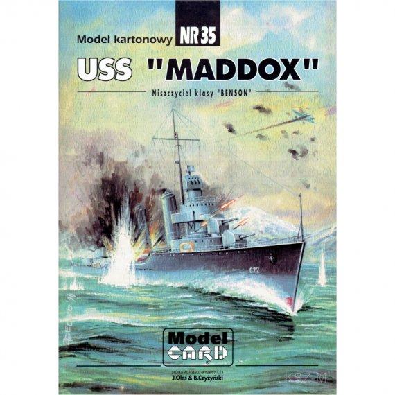 USS Maddox - Model Card 35