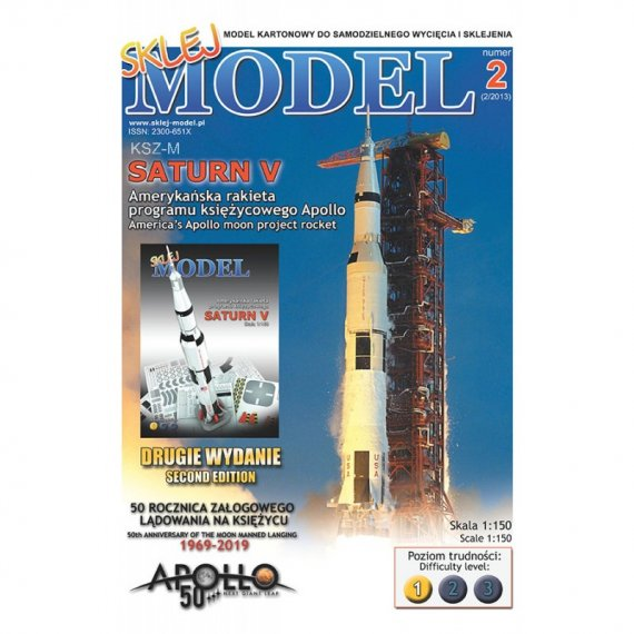 Amerykańska rakieta SATURN V - Sklej Model 2