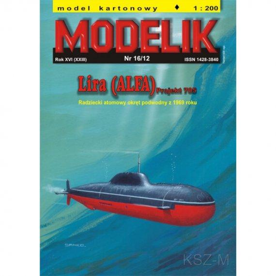 Okręt podwodny LIRA (ALFA) - Modelik 16/12