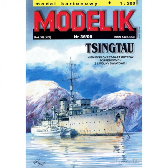 Niemiecki okręt TSINGTAU - Modelik 36/08