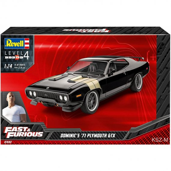 Plymouth GTX 1971 Dominic's - Fast & Furious - REVELL 07692