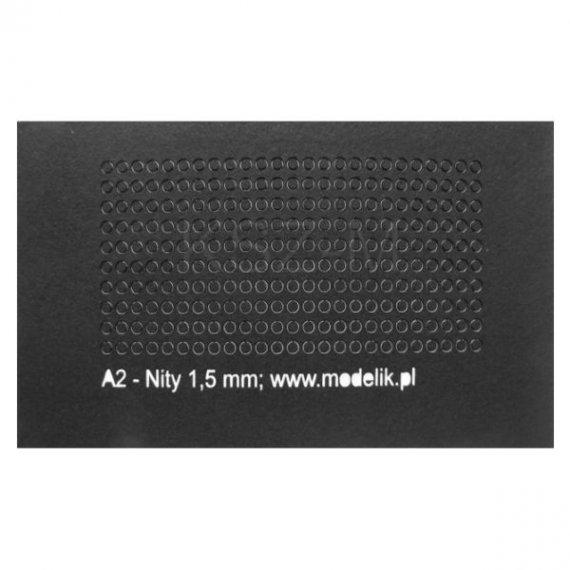 Łby nitów 1,5 mm