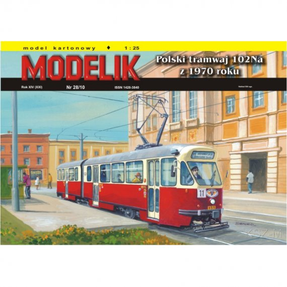 Tramwaj 102Na z 1970r. - Modelik 28/10