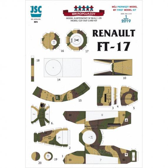 Czołg Renault FT-17 - JSC 805