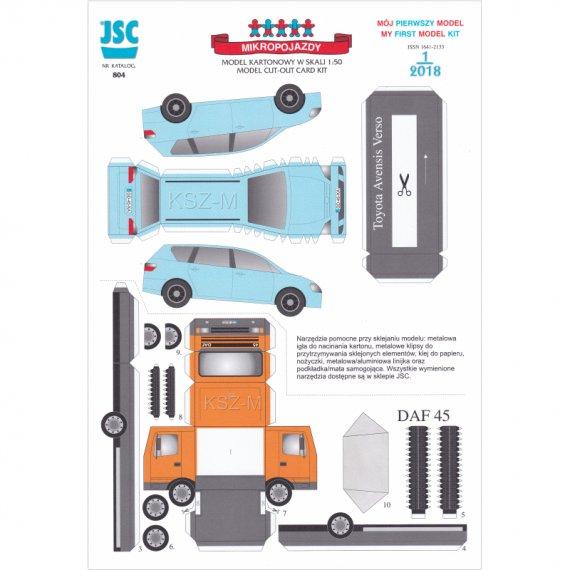 Ciężarówka DAF i Toyota Avensis - JSC 804