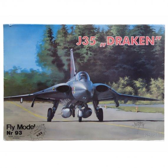 SAAB J-35F Draken - Fly Model 093