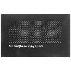 Nakrętki 1,5 mm z widoczną końcówką śruby