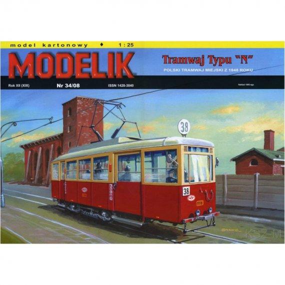 Polski tramwaj typu N - Modelik 34/08