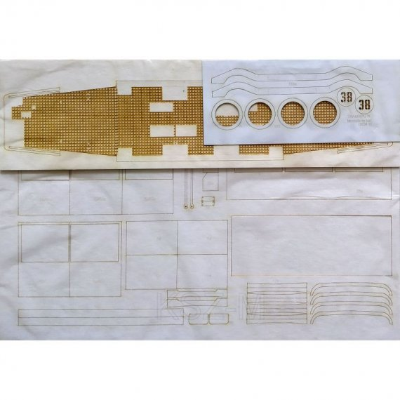 Szkielet, detale do tramwaju typu N - Modelik 34/08