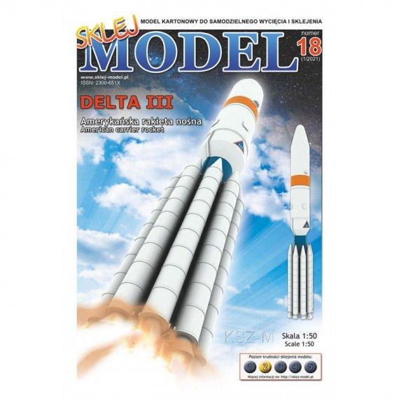 Amerykańska rakieta Delta III - Sklej Model 18