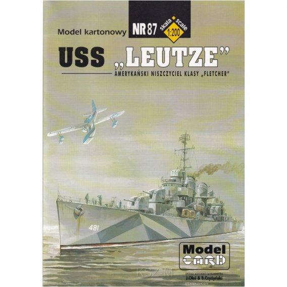 USS Leutze - Model Card 87
