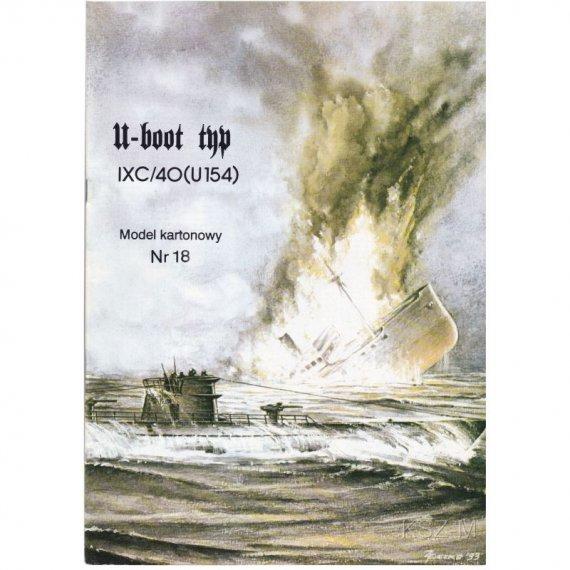 U-boot Typ IX C (U-154) - Model Card 18