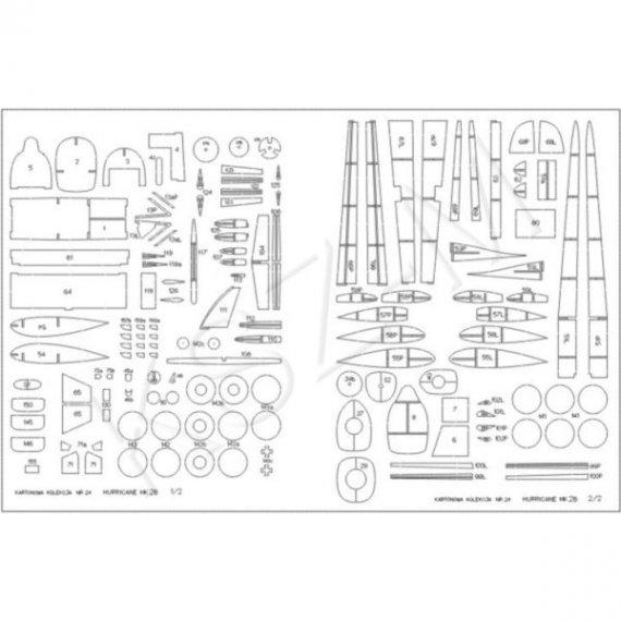 Laser do Kartonowa Kolekcja 24 - Hurricane Mk II
