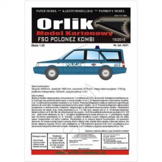 Orlik A031 - FSO Polonez KOMBI Policja