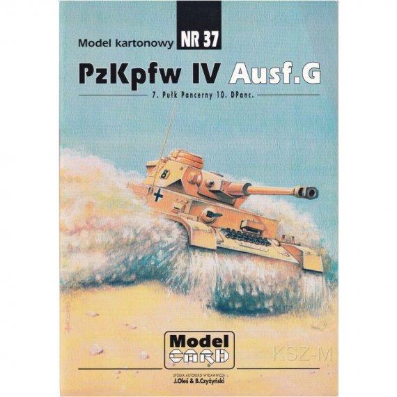 Czołg PzKpfw. IV Ausf. G - Model Card 37