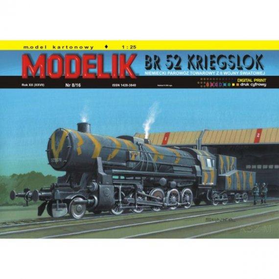 Modelik 8/16 - Parowóz BR 52 Kriegslok