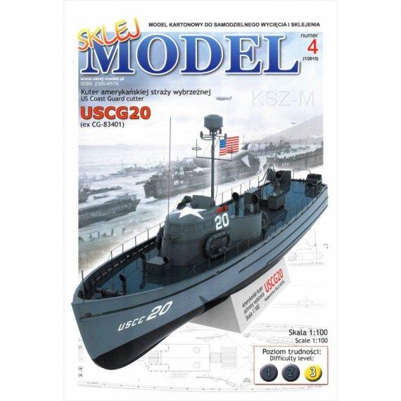 Kuter straży wybrzeżnej USCG-20 - Sklej Model 4