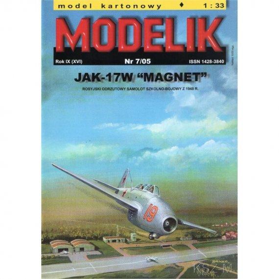 Samolot JAK-17W MAGNET - Modelik 7/05
