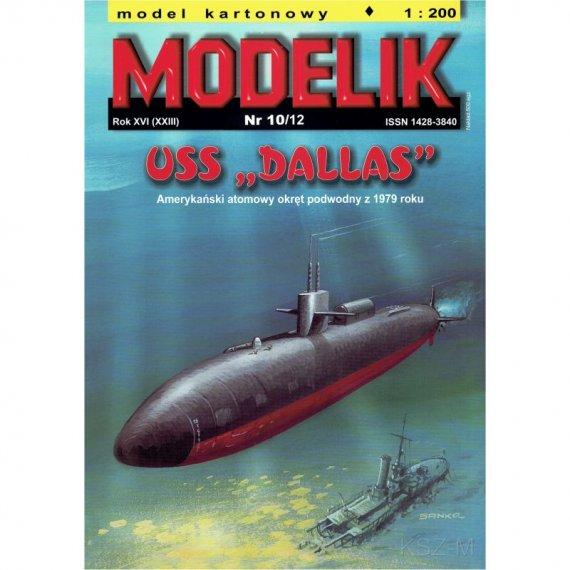 Okręt podwodny USS DALLAS - Modelik 10/12