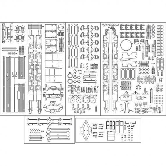 Szkielet, detale do Ty 2 Floridsdorf - ADW Model 26