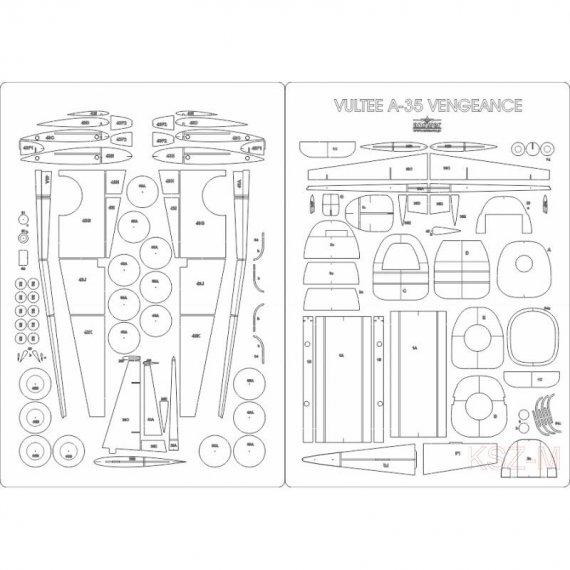 Szkielet, detale do A-35 Vengeance z MPModel 76