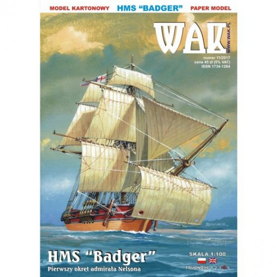 WAK 11/17 - Bryg HMS Badger z 1778r.