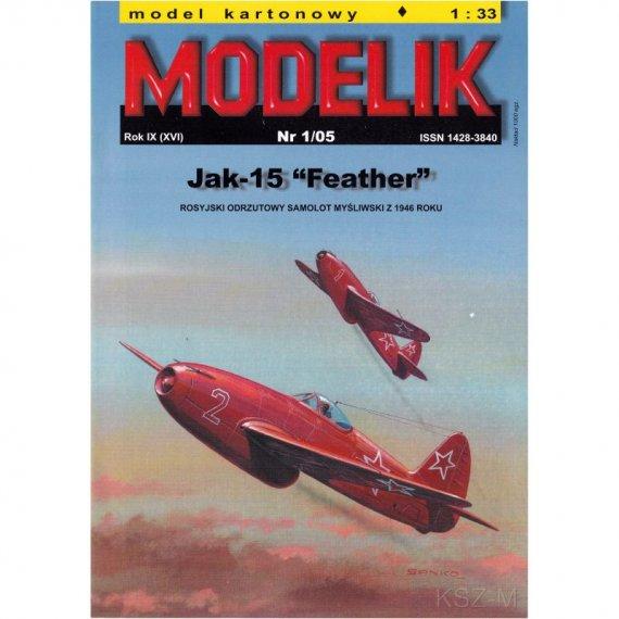 Samolot Jak-15 Feather - Modelik 1/05