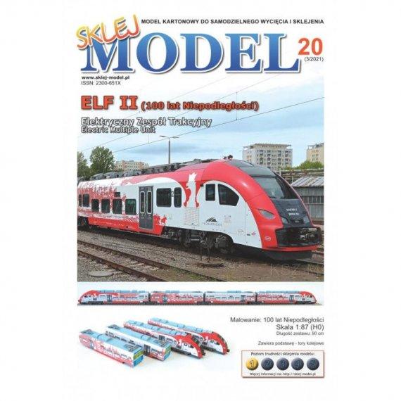 Pociąg Elf II (100 Lat Niepodległości) - Sklej Model 20