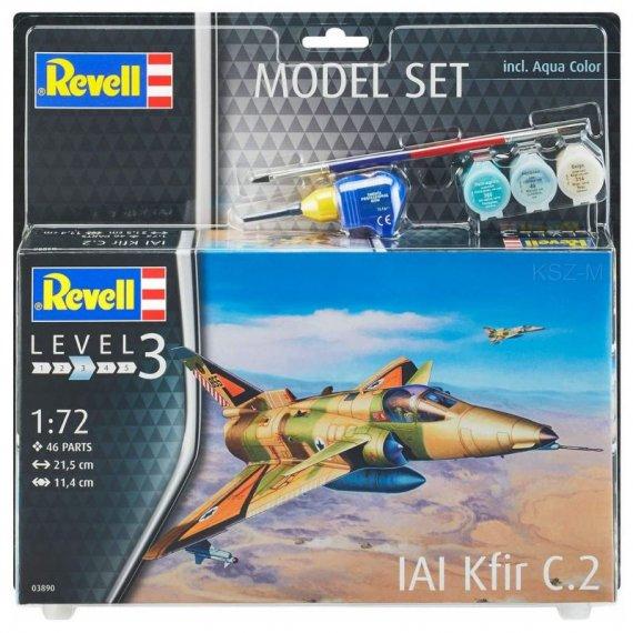 IAI Kfir C-2 + klej, farby - REVELL 03890