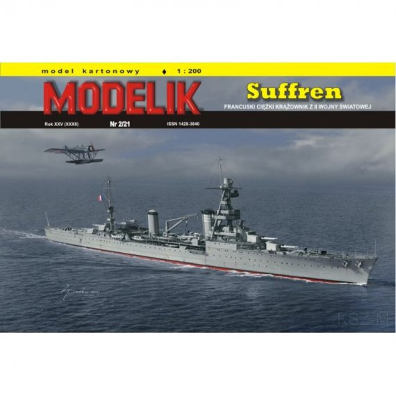 Ciężki krążownik SUFFREN - Modelik 2/21