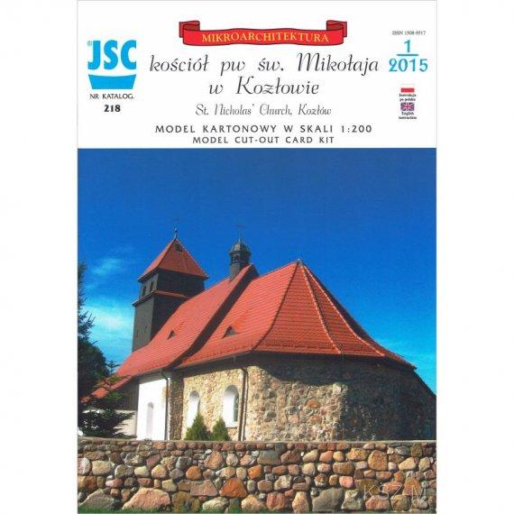 Kozłów: kościół św. Mikołaja, XIII w - JSC-218