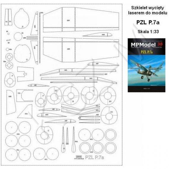Szkielet do PZL P.7a - MPModel 38