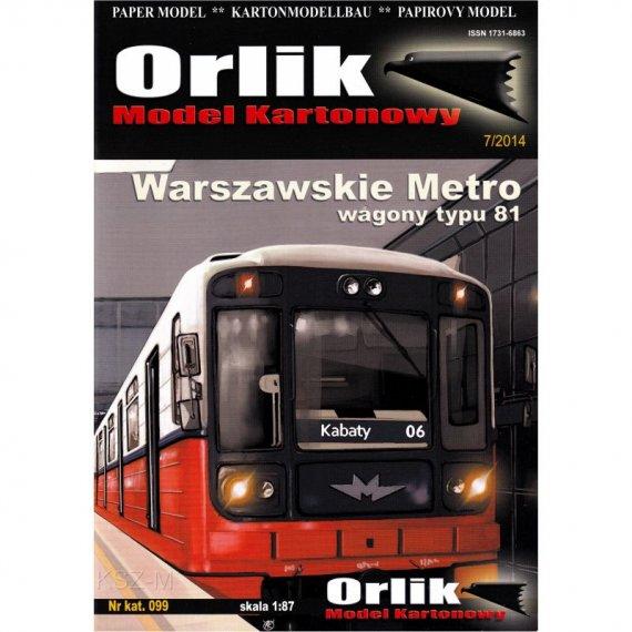 Warszawskie Metro - wagony typ 81 - Orlik 099