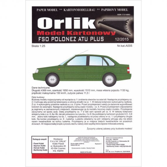 FSO Polonez ATU PLUS - Orlik A005