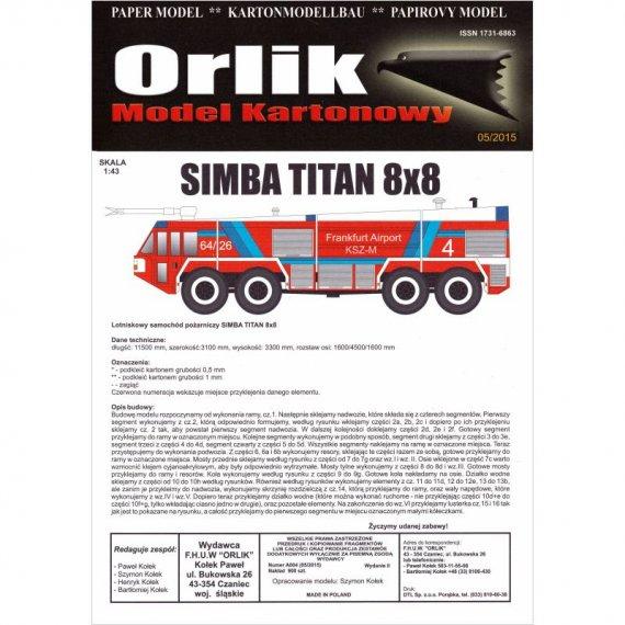 Samochód Simba Titan 8x8 - Orlik A004