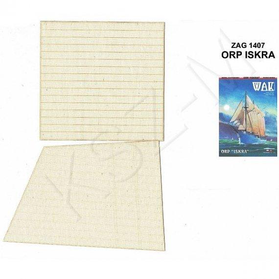 Żagle do WAK 7-8/14 - ORP Iskra