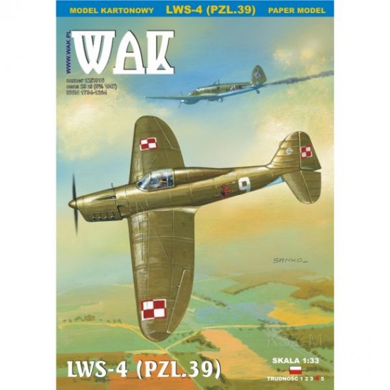 WAK 12/16 - Samolot LWS-4 (PZL.39)