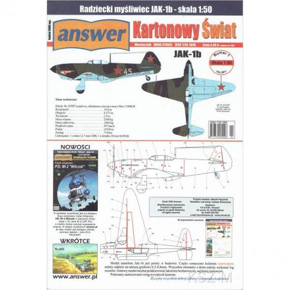 Answer 1/11 Myśliwiec Jak-1 b