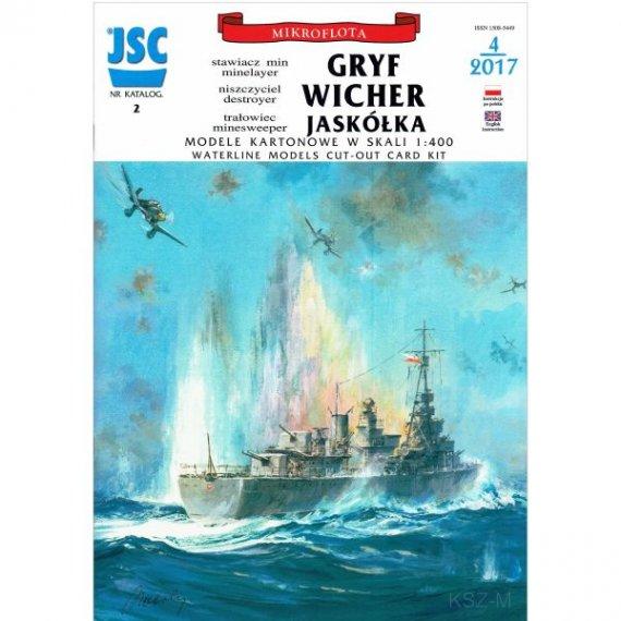JSC-002 Polskie okrety GRYF WICHER, JASKÓŁKA