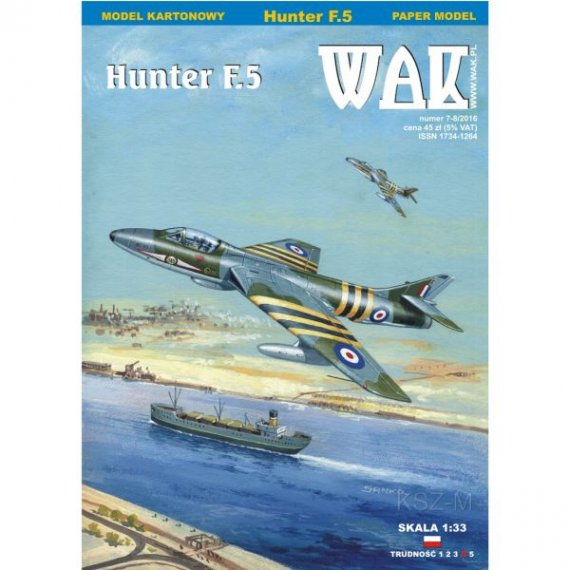 WAK 7-8/16 Samolot Hunter F.5