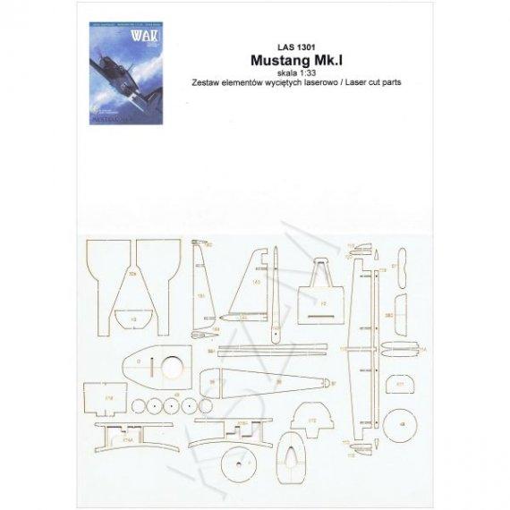 Laser do WAK 1/13 Samolot Mustang Mk.I