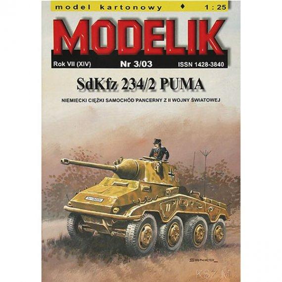 Modelik 3/03 - Sam. pancerny SdKfz 234/2 PUMA