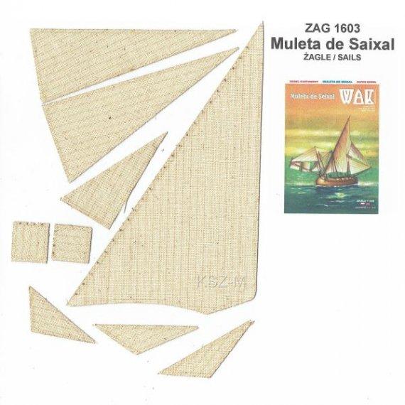 Żagle do WAK 3/16 Żaglowiec Muleta de Seixal